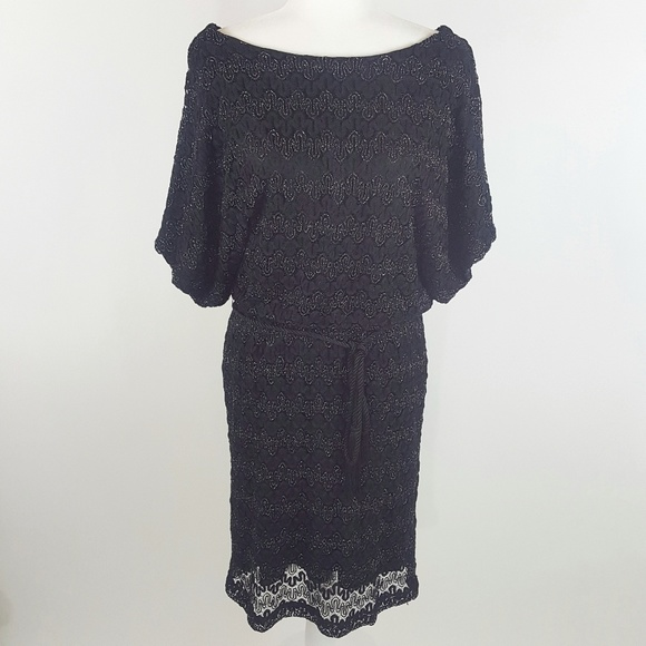 18ee9037ac15 Jessica Howard Dresses | Lace Cocktail Dress Black Silver 14 | Poshmark